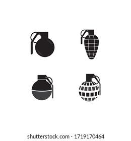 Grenades logo design vector. grenade symbol design template.
