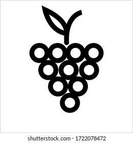 grep icon vector isolated, fruit .