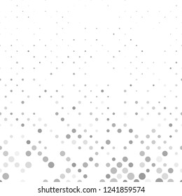 Grey abstract geometrical circle pattern - vector winter background illustration with circles