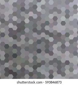Grey abstract hexagonal honey comb background design