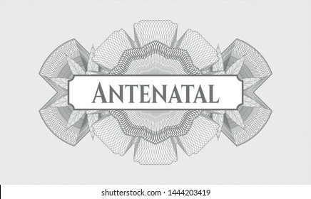 Grey abstract linear rosette with text Antenatal inside