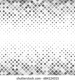 Grey abstract square pattern background - geometrical vector design from diagonal squares