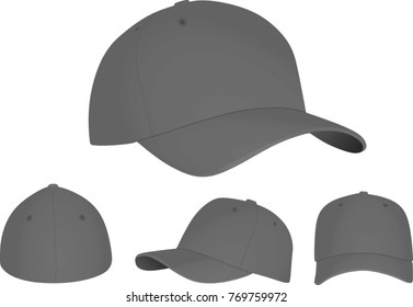 Grey baseball cap. vector illustration