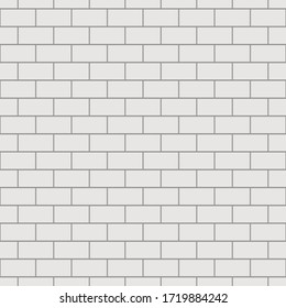 grey brick wall seamless Vector illustration background - texture pattern for continuous replicate.