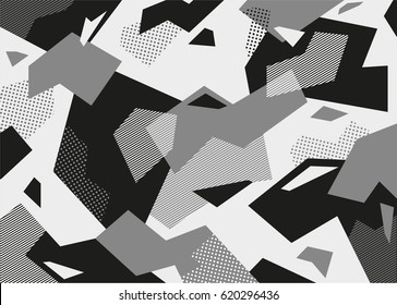 grey camouflage pattern