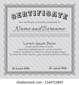 certificate appreciation template award ribbon on のベクター画像