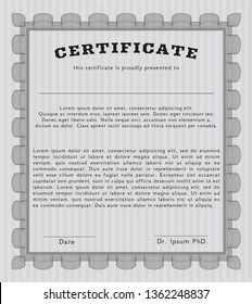 Grey Classic Certificate template. Easy to print. Elegant design. Customizable, Easy to edit and change colors.