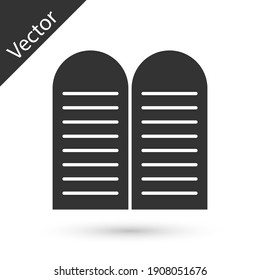 Grey The commandments icon isolated on white background. Gods law concept. Vector.