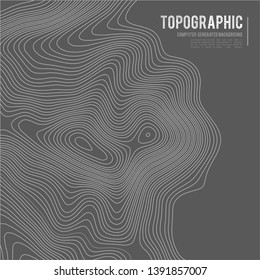 Grey contours vector topography. Geographic mountain topography vector illustration. Topographic pattern texture. Map on land vector terrain. Elevation graphic contour height lines. Topographic map