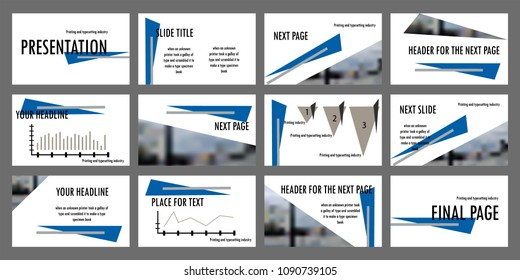 синие grey elements on white background. Business marketing advertising presentation template, annual report, leaflet banner. Powerpoint   presentations; templates; business