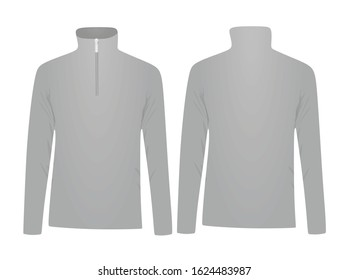Grey fleece long sleeve. vector