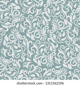 Grey flowers pattern for wall decoration