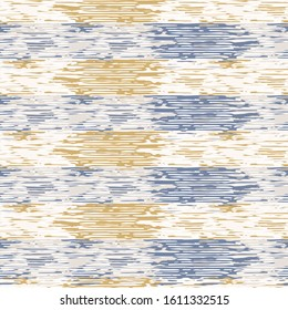 Grey french linen vector broken stripe texture seamless pattern. Brush stroke grunge abstract background. Country farmhouse style textile. Irregular distressed rough aged striped mark allover print.