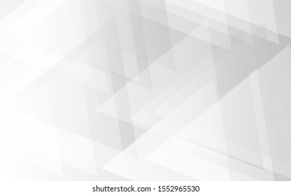 Grey geometric gradient vector background. Abstract silver wallpaper texture. Metallic illustration style. Template for website design and social media advertising