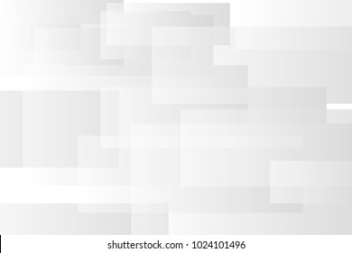 Grey geometric technology background with rectangle shapes. Vector abstract graphic design