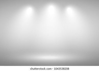Grey gradient background. Abstract illustration background texture of beauty dark and light clear grey, gradient flat wall and floor in empty spacious room.