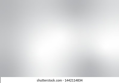 Grey gradient vector background. Abstract silver wallpaper texture. Metallic illustration style. Template for website design and social media advertising.