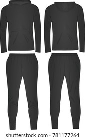 Grey hooded tracksuit. vector illustration