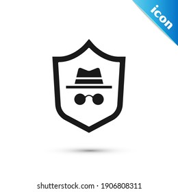 Grey Incognito mode icon isolated on white background.  Vector