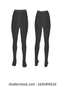 Grey kids pantyhose. vector illustration