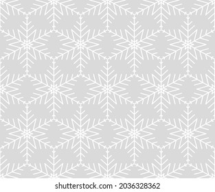 A Grey Lace Seamless Christmas Snowflake Pattern