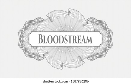 Grey linear rosette with text Bloodstream inside