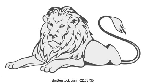Lion Outline Images Stock Photos Vectors Shutterstock With no natural predators, these big cats rule the land they roam. https www shutterstock com image vector grey lion 62103736