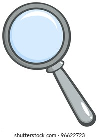 Grey Magnifying Glass. Jpeg version also available in gallery.