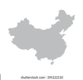 grey map of China