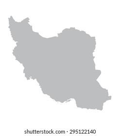 grey map of Iran