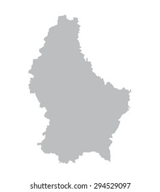 grey map of Luxembourg