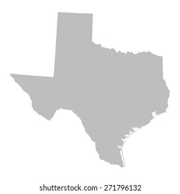 grey map of Texas