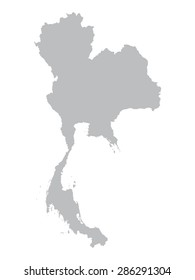 grey map of Thailand