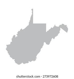 grey map of West Virginia