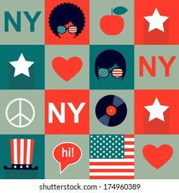 grey  New York pattern
