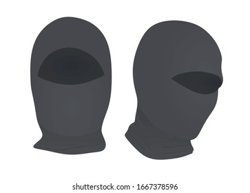 Grey ninja mask. vector illustration