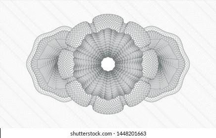 Grey passport money rosette. Vector Illustration. Detailed.