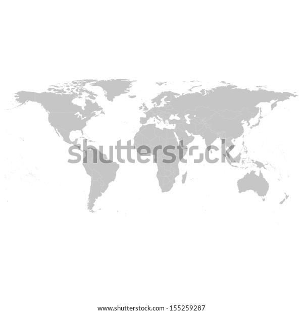 Иллюстрация «Серая политическая карта мира»