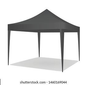 Grey promotional tent. vector illustration