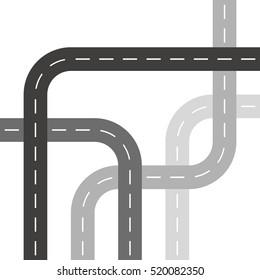 Grey Roads or Streets in Threaded Weave Pattern