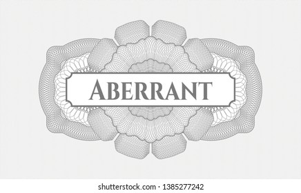 Grey rosette. Linear Illustration. with text Aberrant inside
