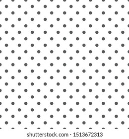 Grey seamless polka dot pattern. Vector illustration.