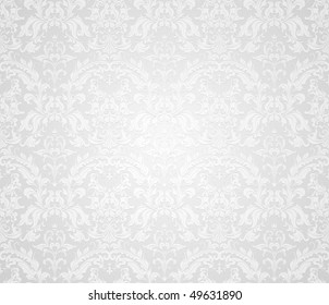 Grey seamless wallpaper pattern, vector