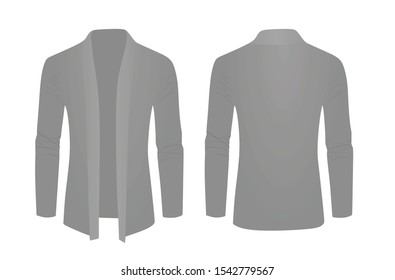 Grey shawl sweater. vector illustration