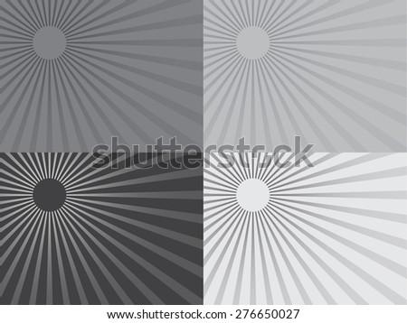 0f27307c3f3 Grey Shiny Sun Vector Ray Background Stock Vector (Royalty Free ...