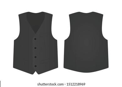 Grey  suit vest. vector illustration