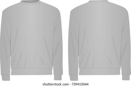 Grey sweater. vector illustration