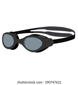 Grey swimming goggles vector illustration. Swimming glasses. Diving equipment