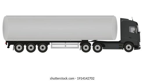 Grey tanker truck. vector illustration