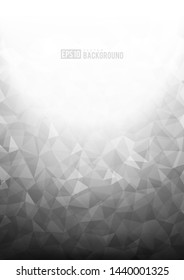 Grey texture background with geometric ice pattern